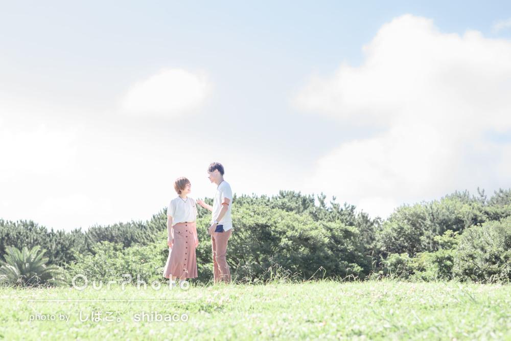 「爽やかな仕上がりに満足」カジュアルで爽やかなカップルフォトの撮影