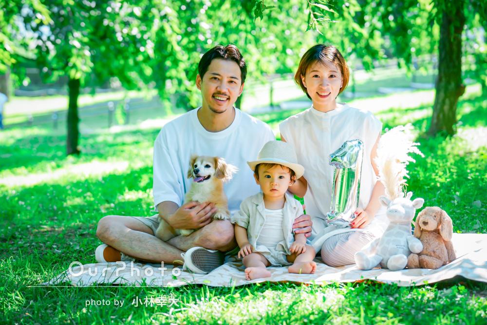 「素敵な写真ばかりを撮って頂き大満足」1歳のお誕生日に家族写真の撮影