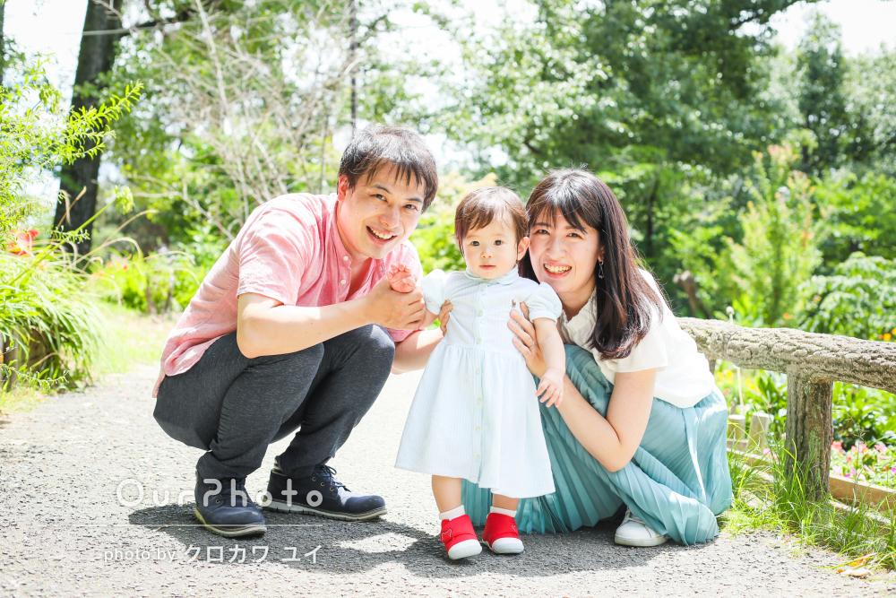 「和やかな雰囲気でたくさん笑顔を引き出して」お誕生日に家族写真の撮影