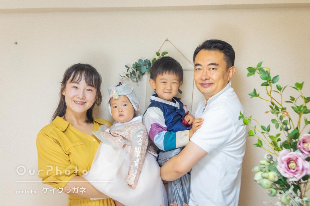 「とても親切でよかったです」1歳のお誕生日を記念した家族写真の撮影