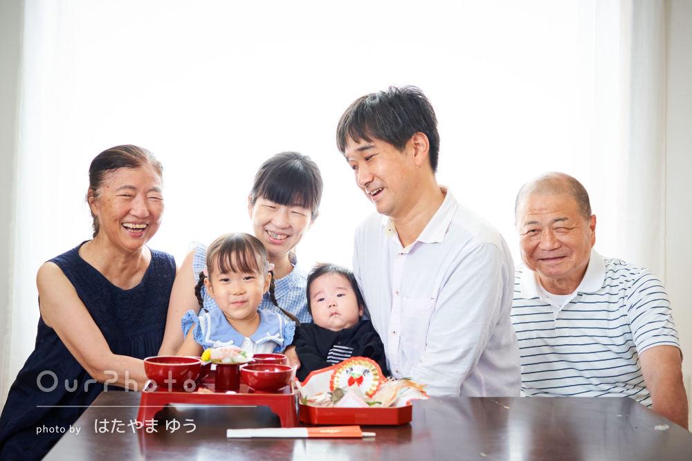 「家族皆んな大変満足しています」ご自宅でお食い初め・百日祝いの撮影