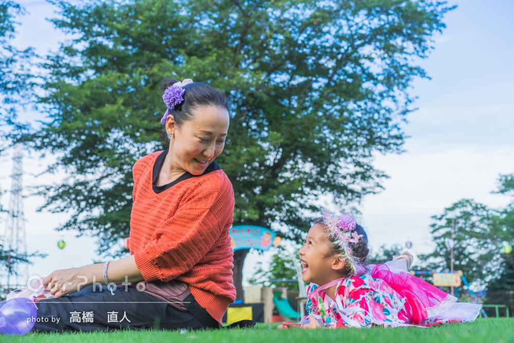 「色々な場面を撮影していただき」幼稚園の夏祭りを楽しむ家族写真の撮影