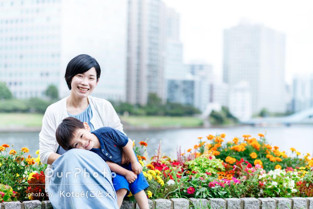 「予想を超える良いお写真を撮っていただけた」姉弟の家族写真の撮影