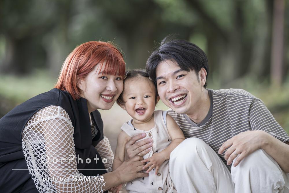 「知識の豊富さがとても嬉しかったです!」自然に囲まれて家族写真の撮影