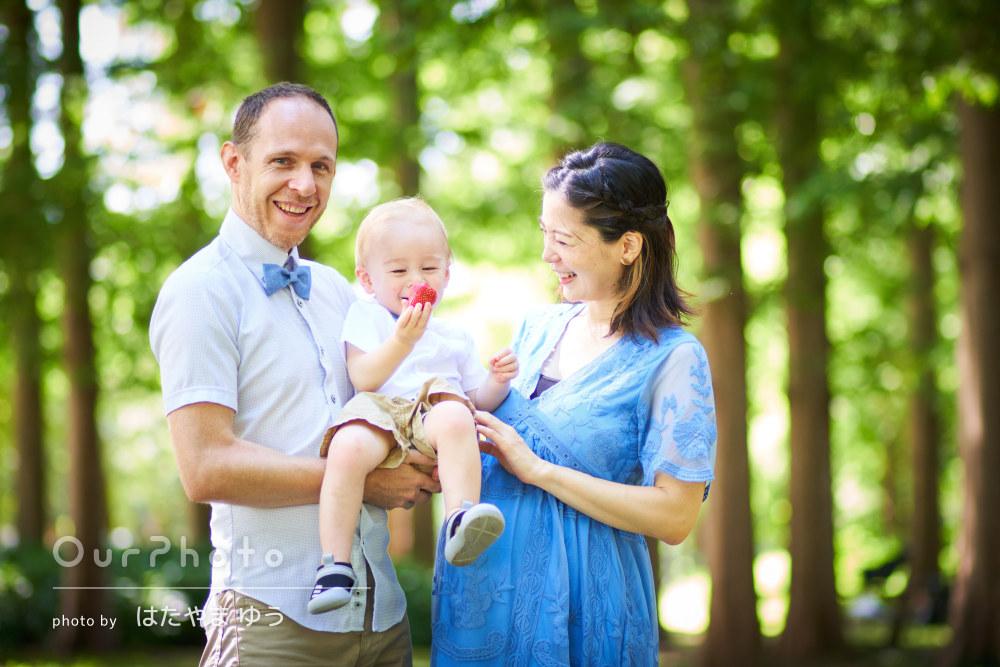 「想像の何倍も素敵に叶えていただき、大満足」出産前に家族写真の撮影