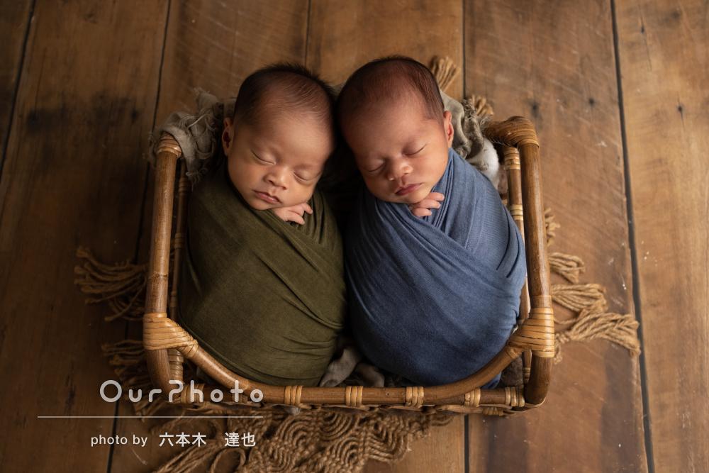 「一生の思い出になりました」双子ちゃんのニューボーンフォトの撮影