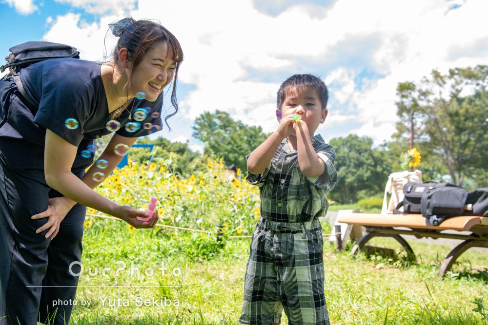 「沢山の素敵な写真」仲睦まじい親子ツーショットが素敵な家族写真の撮影