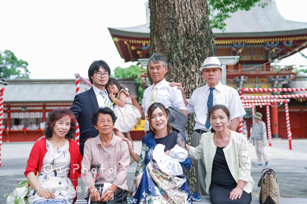 「とても楽しく撮影できてよい時間」ご家族で楽しんだお宮参りの撮影