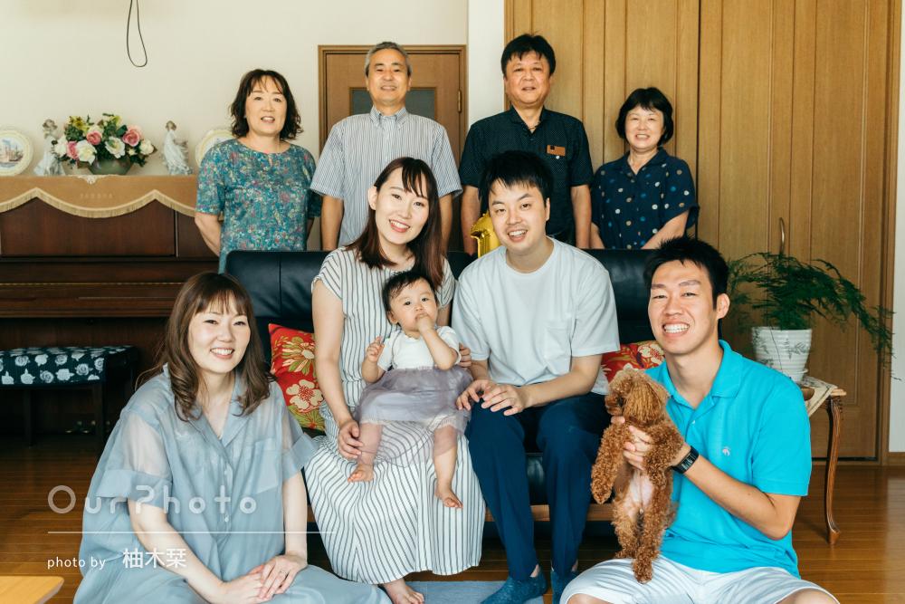 「素敵なものばかりで大満足です」1歳の誕生日記念に家族写真の撮影