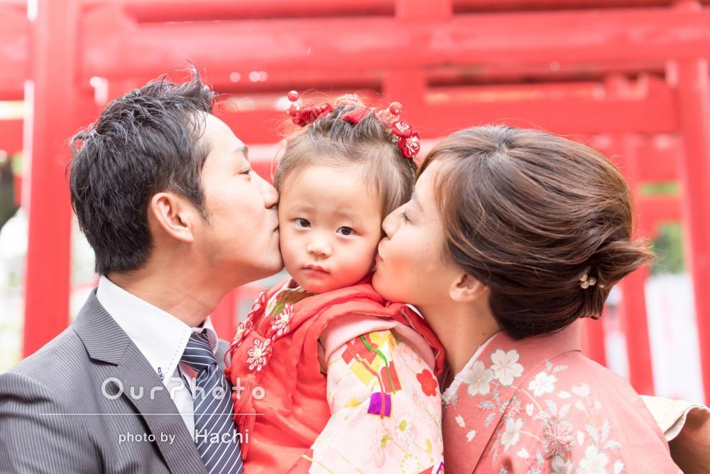 「たくさんの素敵な写真!」神社での3歳の七五三撮影