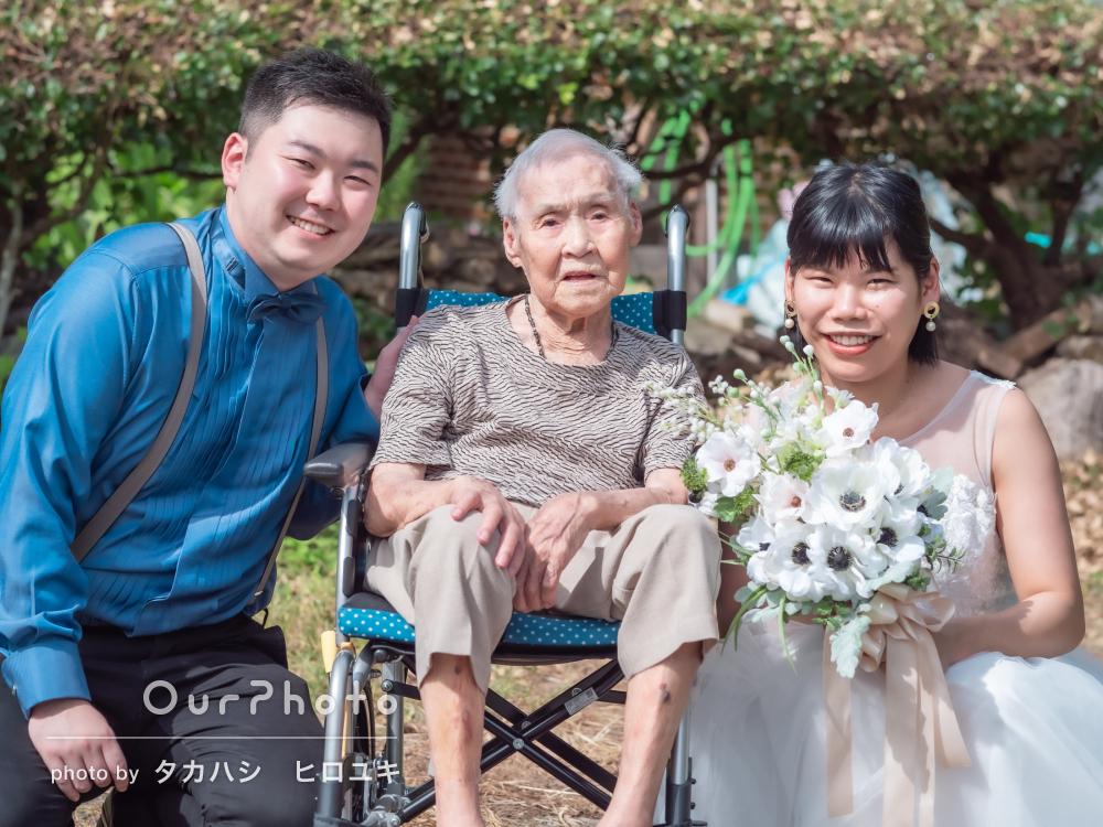 「本当に大切な写真」おばあちゃんも一緒にウェディングフォトの撮影