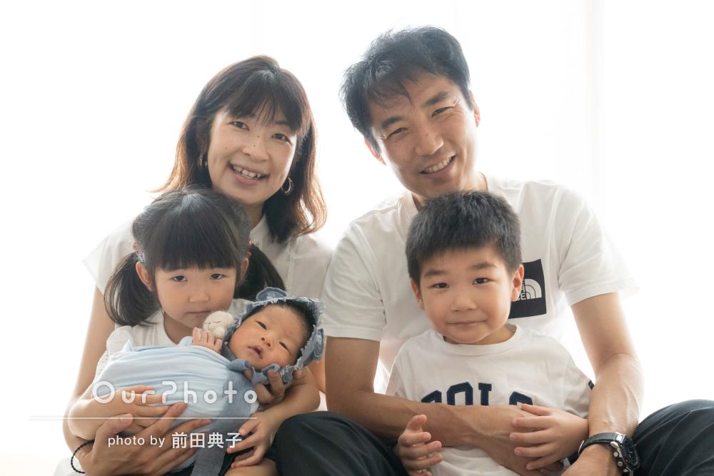 「安心してこちらもお願いできました」家族でニューボーンフォトの撮影