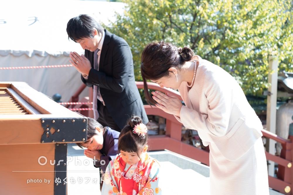 「親身にご対応いただき感謝!」神社で兄妹の七五三撮影