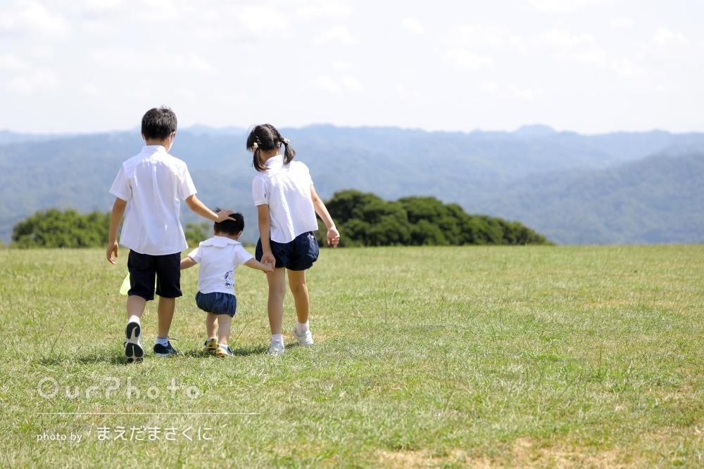 「大切な思い出を残すことが出来ました」リンクコーデで家族写真の撮影
