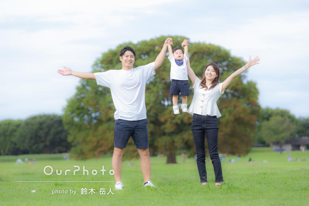「私好みの仕上がりにして頂き大満足です」リンクコーデで家族写真の撮影