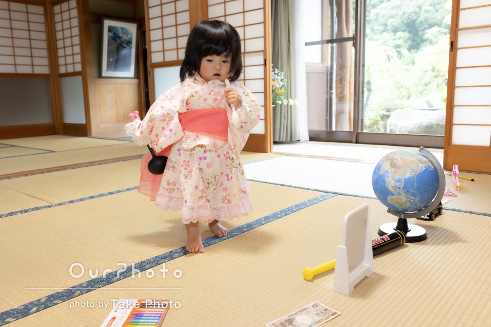 「素敵なお写真を沢山ありがとう」1歳のお誕生日にイベント写真の撮影