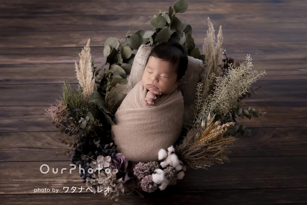 「赤ちゃんの扱いに慣れていてあやし方も上手」ニューボーンフォトの撮影