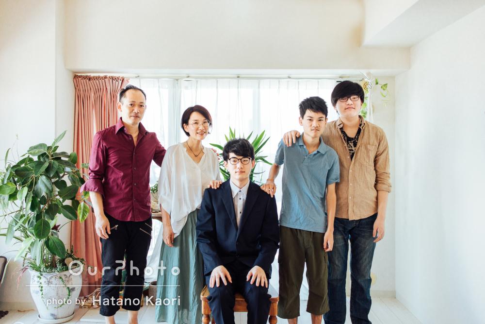 「スムーズに撮ることが出来ました」明るい笑顔で家族写真の撮影