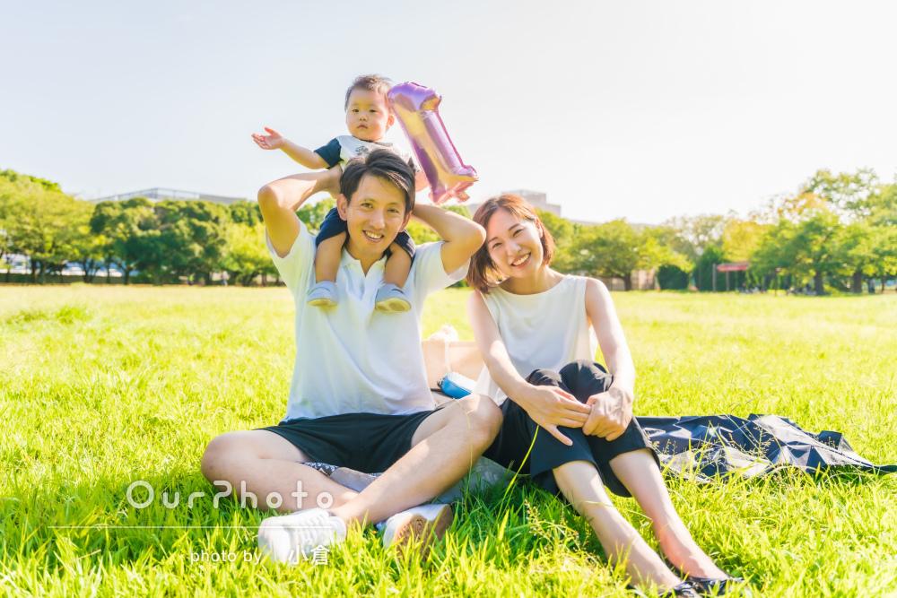「プロの方が撮るとこんなに綺麗なのかと感動」大満足の家族写真の撮影