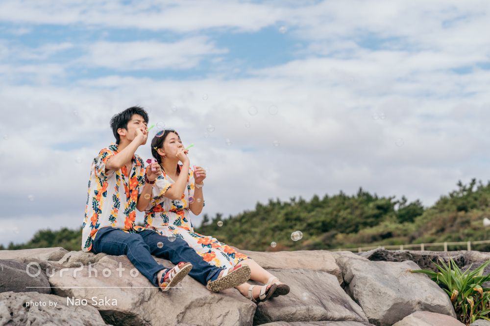 「楽しく撮影することができました」お揃いの服でカップルフォトの撮影
