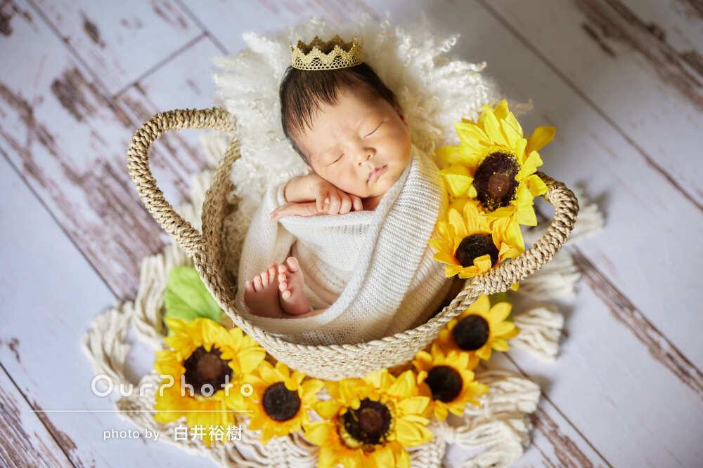「赤ちゃんもとてもリラックスして」見応えあるニューボーンフォトの撮影
