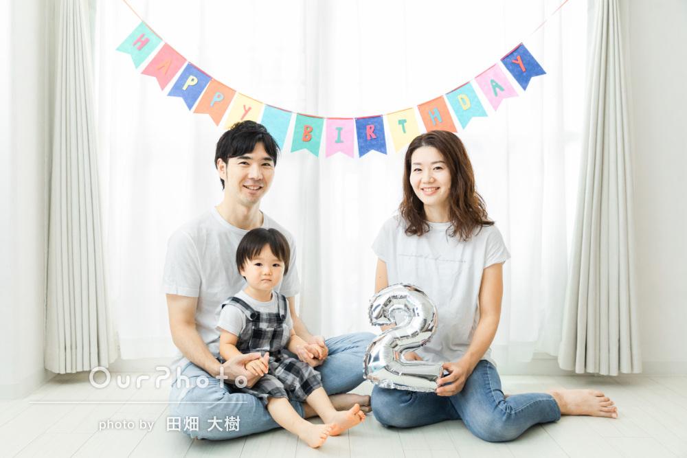 「丁寧に撮影していただいて」2歳の誕生日の記念に家族写真の撮影
