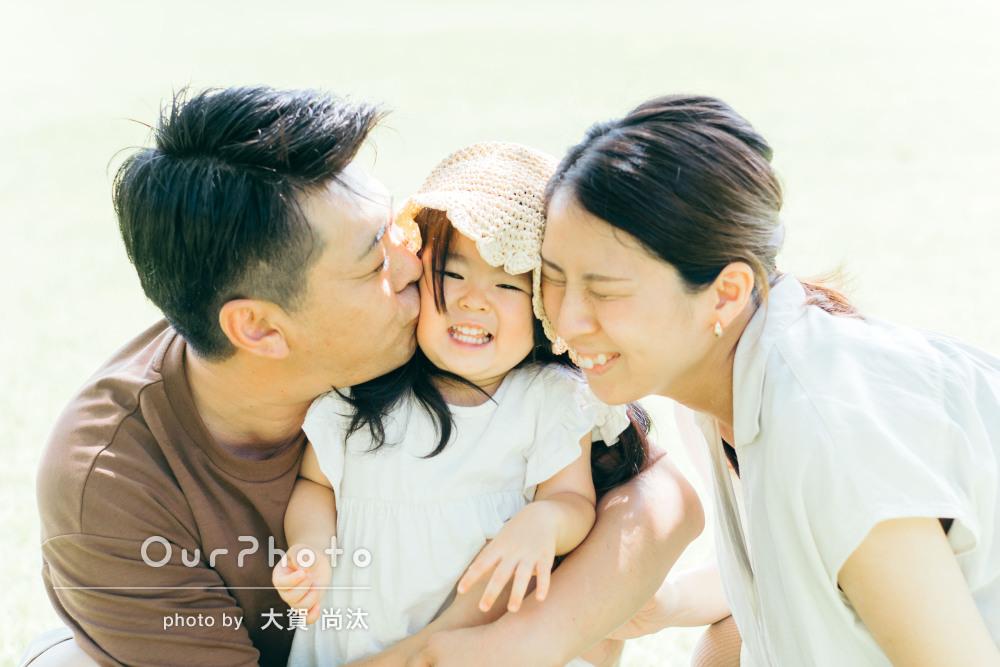 「娘に優しく声をかけてくださり」明るくて仲良しな家族写真の撮影