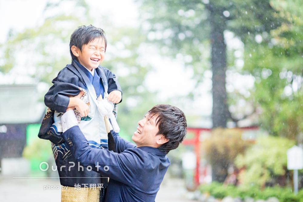 「家族みんな満足」雨でもへっちゃら!とびきり笑顔の七五三撮影