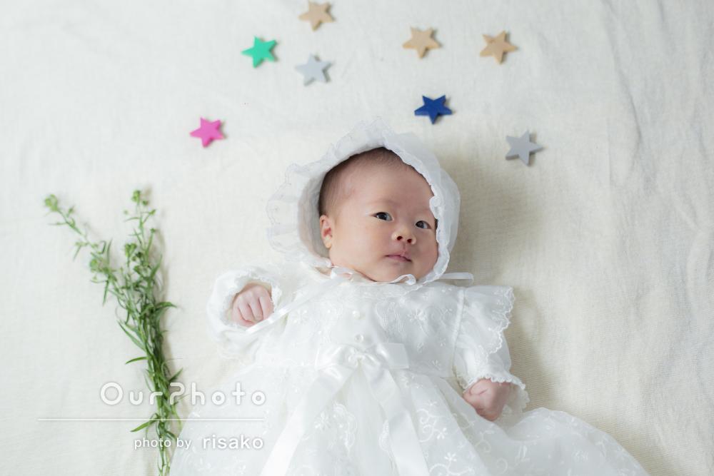「新生児に配慮した撮影で親も子もリラックス」ニューボーンフォトの撮影