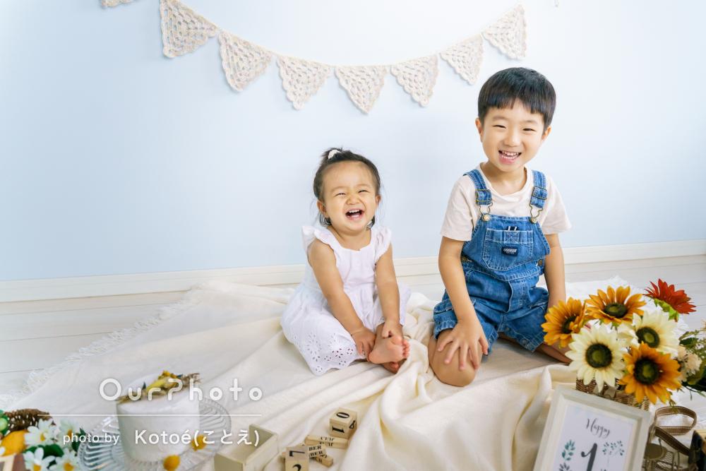 「楽しそうに笑っている写真ばかり」バースデーフォトと家族写真の撮影