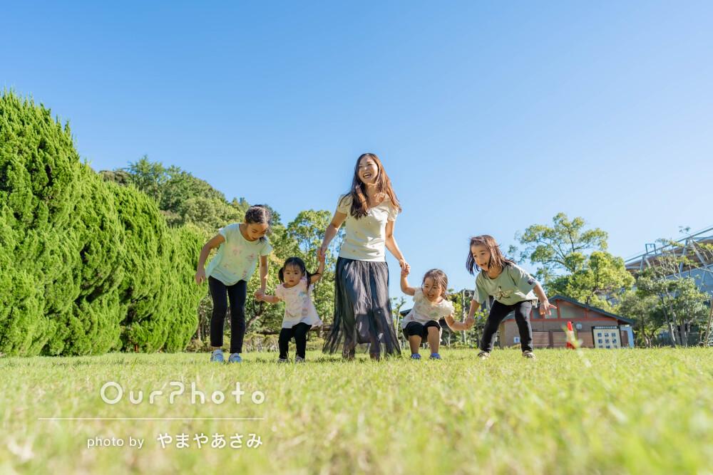 「たくさんの心遣いが嬉しかったです」太陽の光に包まれて家族写真の撮影