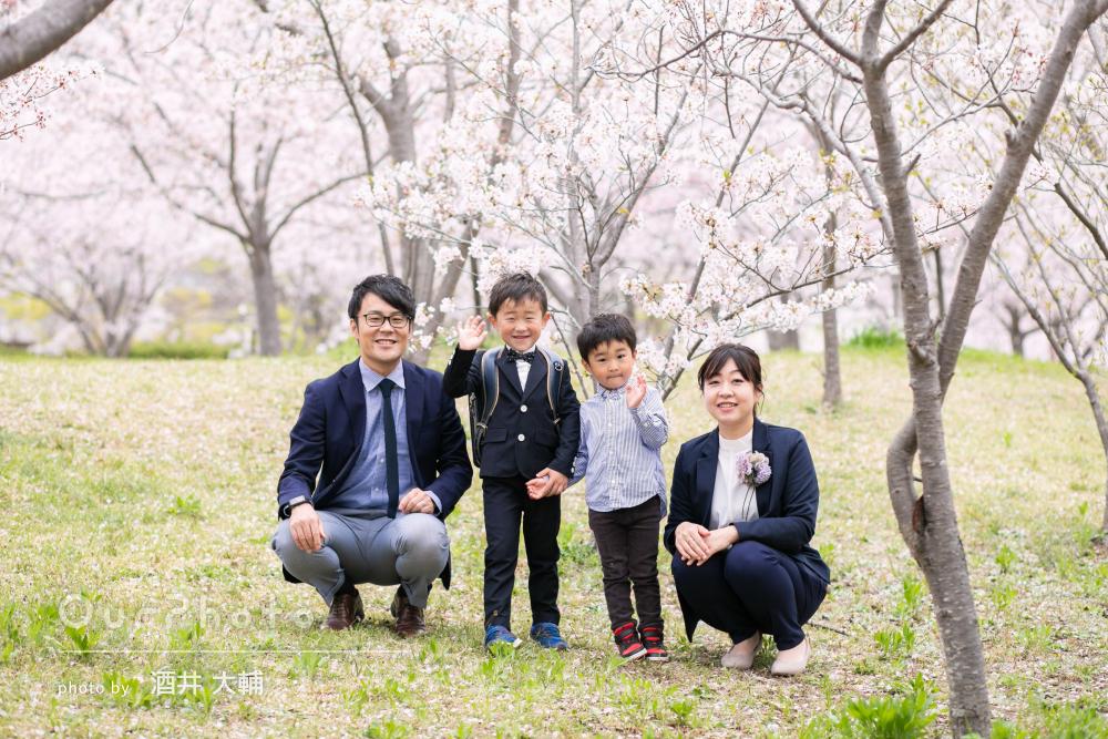 「子ども達の笑顔を引き出して下さり素敵な写真を」家族写真の撮影