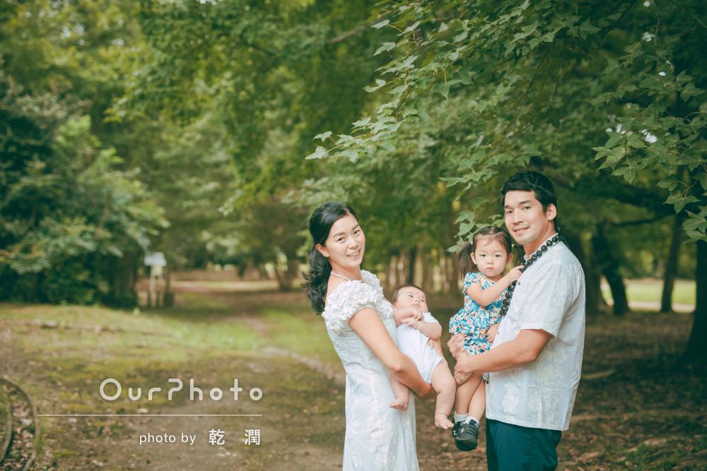 「撮影もとてもスムーズでした!」夫婦でドレスアップして家族写真の撮影