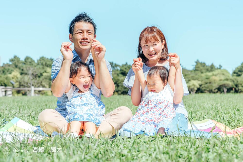 「結婚記念日と次女の立った記念にとても良い思い出が」家族写真の撮影