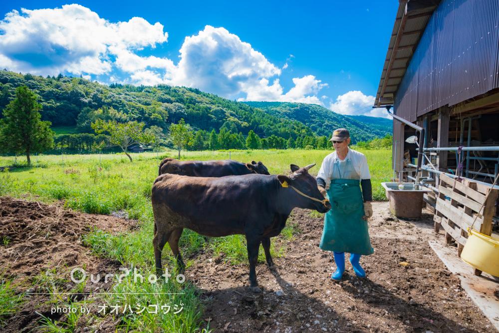 「大変丁寧にご対応いただき、とても安心」牧場でプロフィール写真の撮影