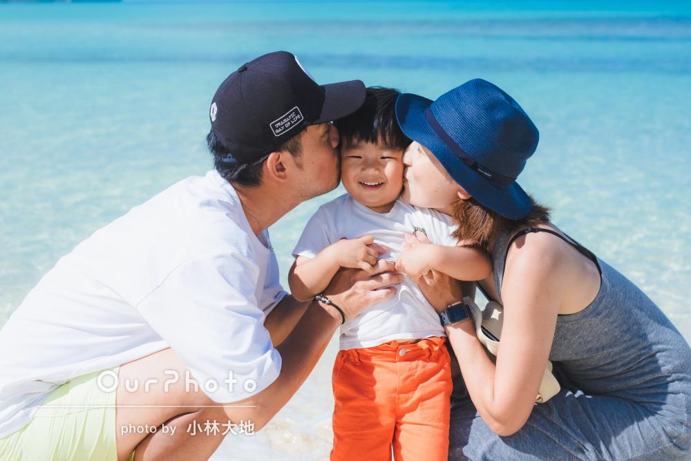 「いい思い出になりました」2歳誕生日のお祝いに家族旅行の撮影
