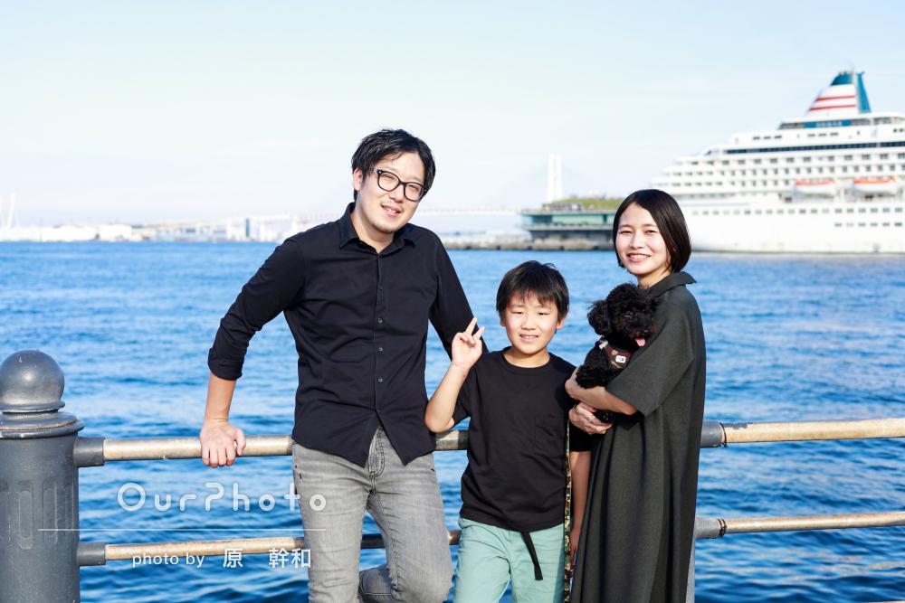 「終始楽しい時間が過ごせました」かわいい愛犬も一緒に家族写真の撮影