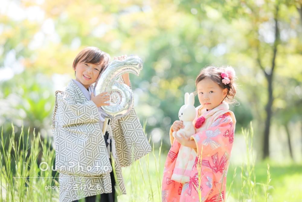 「写真が素晴らしくて感激しっぱなし」兄妹で和装をして七五三写真の撮影