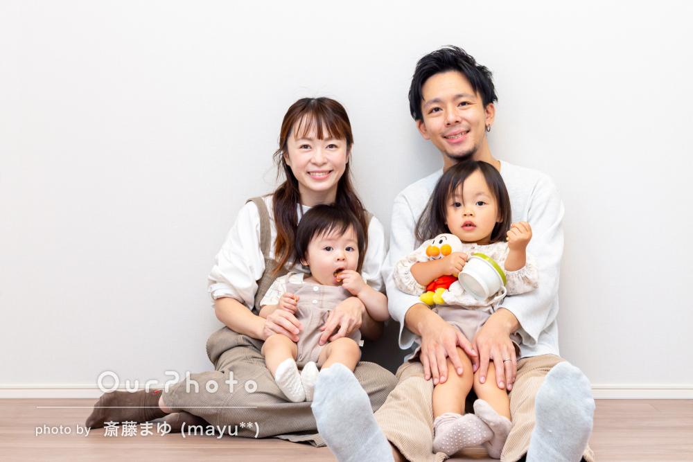 「子供たちと楽しく遊びながら撮影して頂きました」家族写真の撮影
