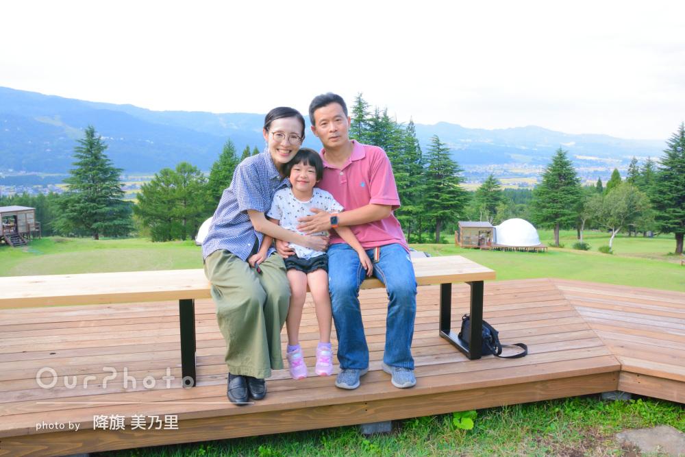 「さすがプロといったお仕事ぶり」旅行の思い出を収めた家族写真の撮影