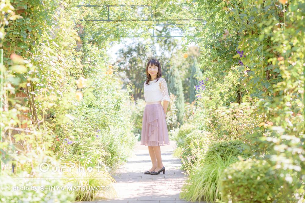 「和やかな雰囲気で楽しく過ごすことができ」女性プロフィール写真の撮影