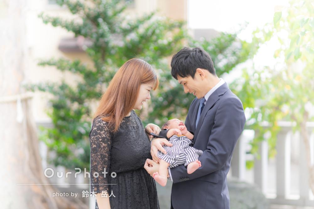 「赤ちゃんのペースに合わせて写真を撮って」可愛いお宮参りの撮影