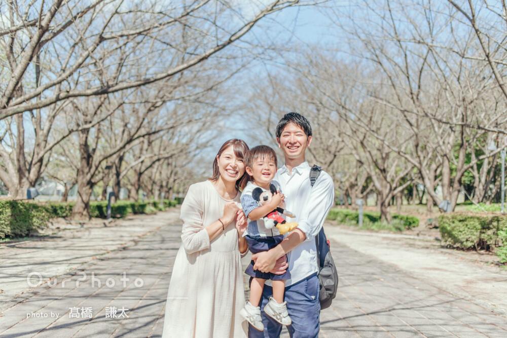 3人で過ごす時間もあと少し!マタニティフォトも兼ねた家族写真の撮影