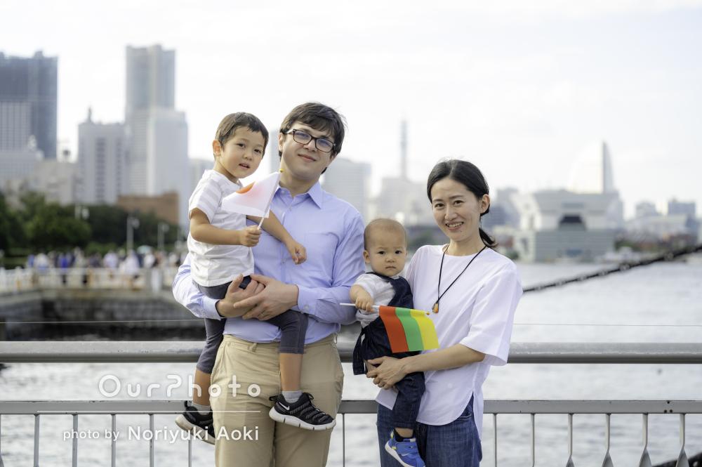 「家族で楽しめる充実した時間でした」誕生日の記念に家族写真の撮影