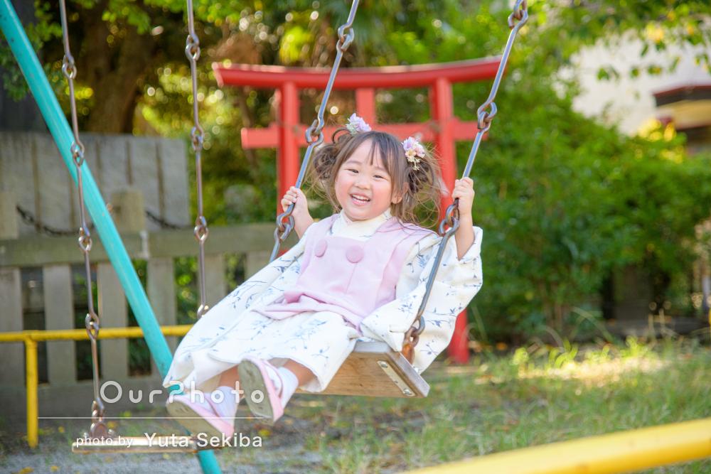 「娘を楽しませながら、笑顔をひきだしていただいて」3歳の七五三の撮影