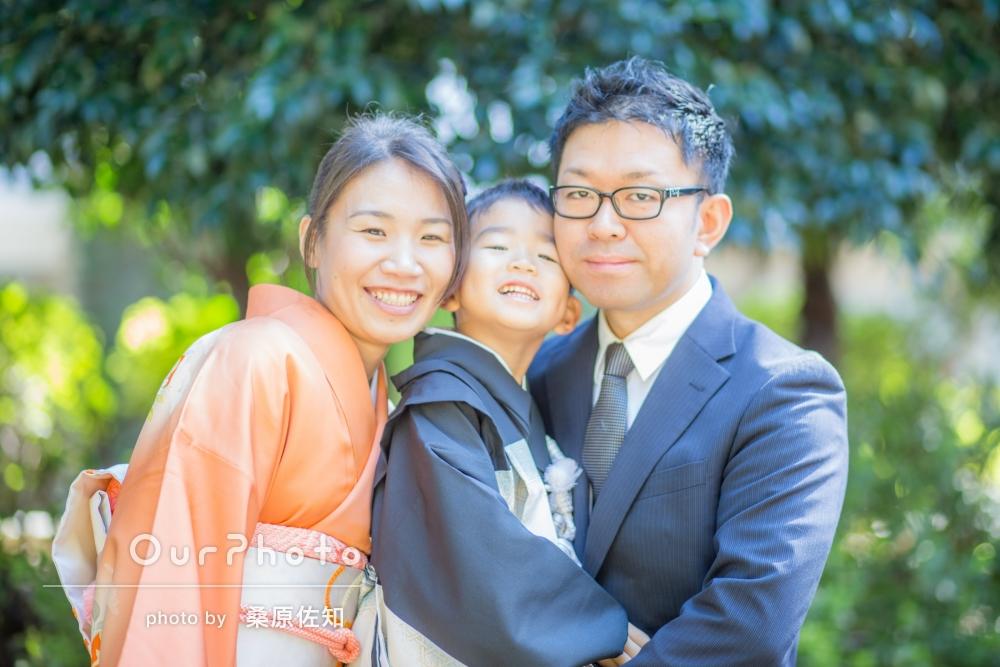 「親子3人での写真がお気に入りです」みんな笑顔の七五三の撮影