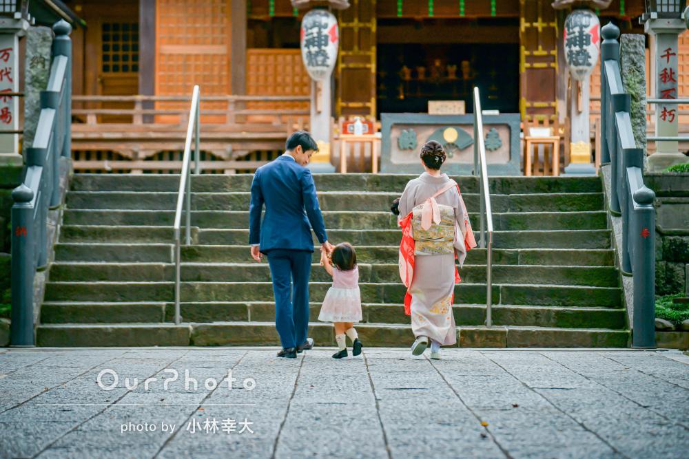 「楽しく撮影することができました」歴史ある神社で秋のお宮参りの撮影
