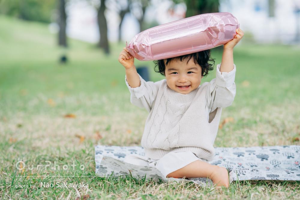 「本当に良い思い出になりました」1歳の女の子のバースデーフォトの撮影