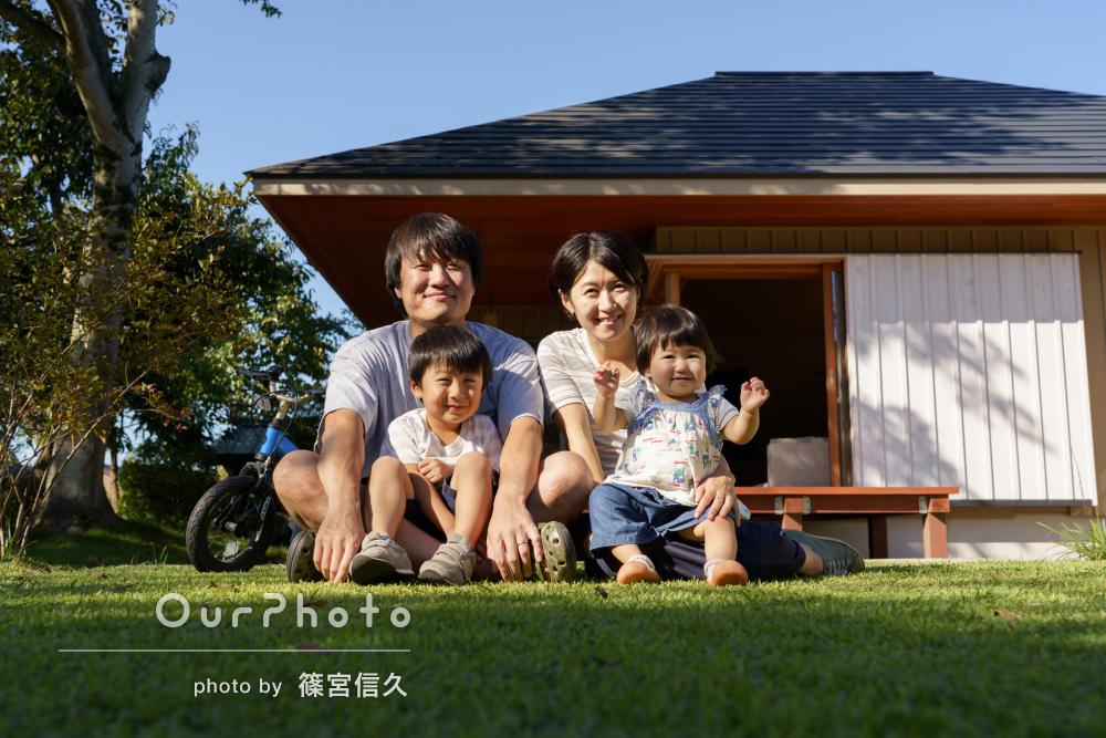 「自宅撮影にも関わらず綺麗で、いろんなショットが」家族写真の撮影