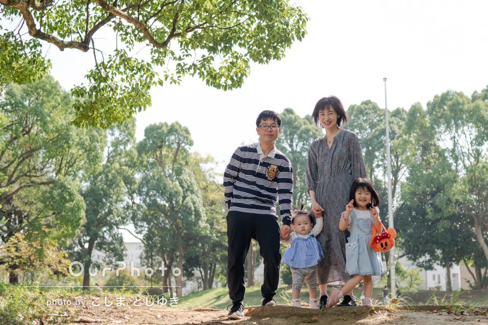 「普段生活している場所がこんなに魅力的なんだと驚き」家族写真の撮影